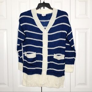 LULAROE 'Lucille' Loose-Fit Cardigan Striped S
